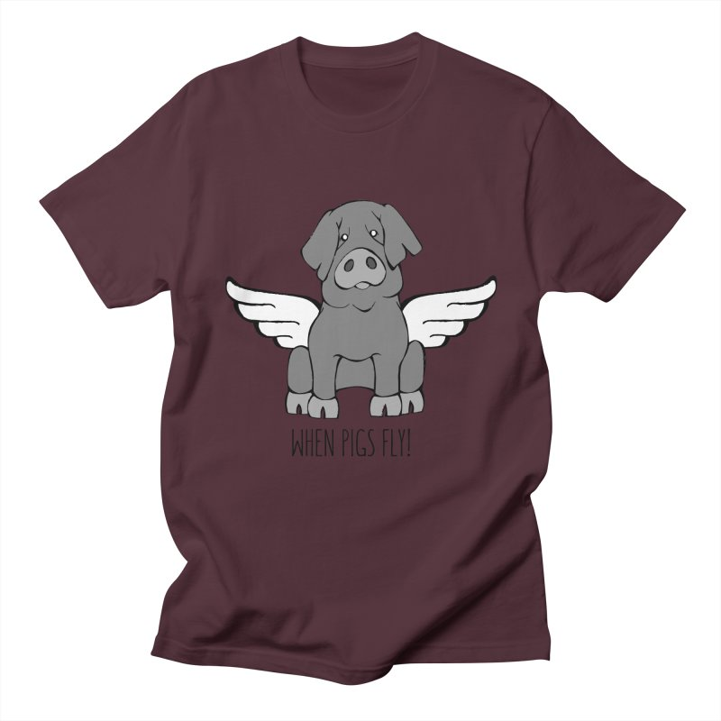 When Pigs Fly: Iberico Men's Regular T-Shirt by Angry Squirrel Studio