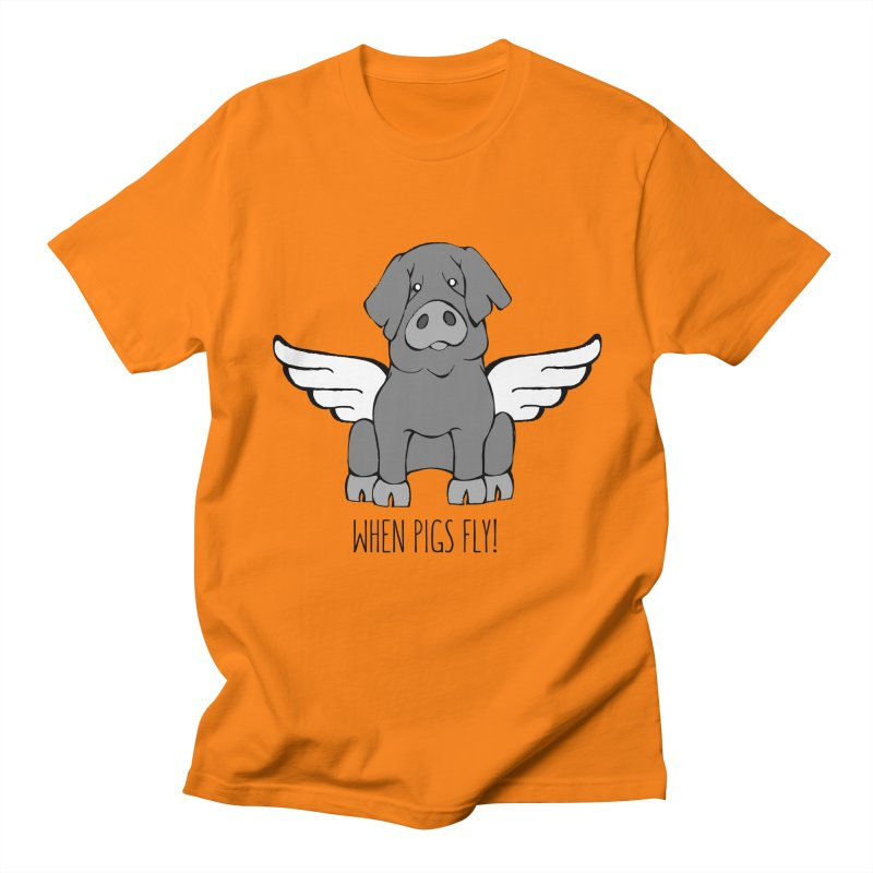 When Pigs Fly: Iberico Women's Regular Unisex T-Shirt by Angry Squirrel Studio