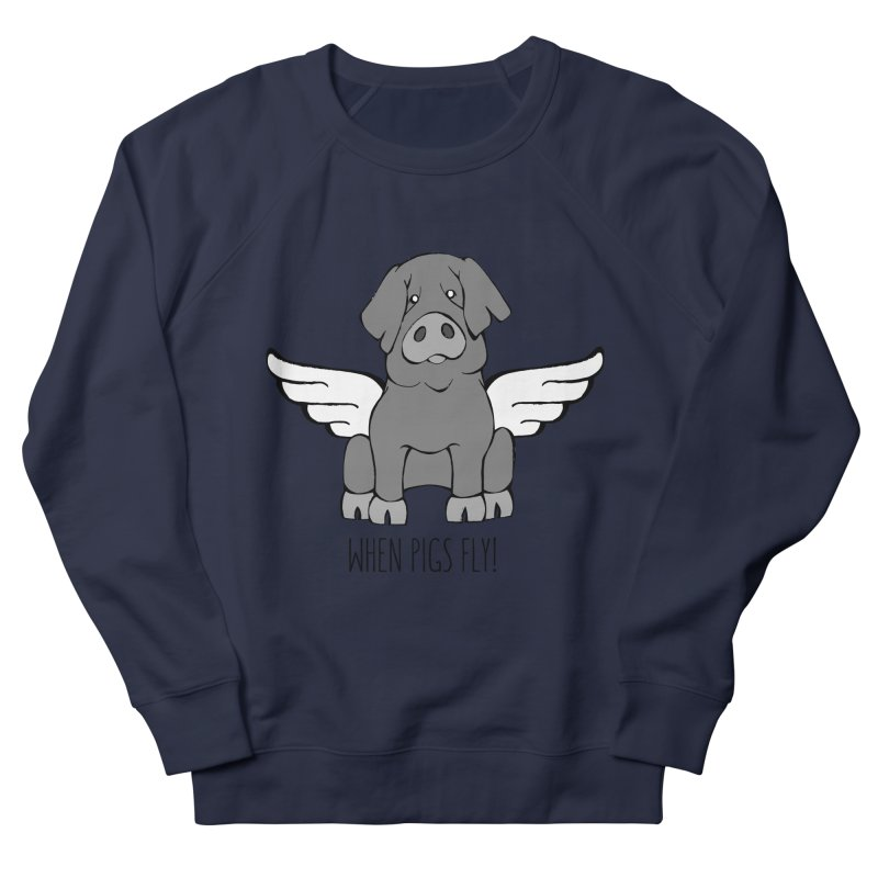 When Pigs Fly: Iberico Women's Sweatshirt by Angry Squirrel Studio