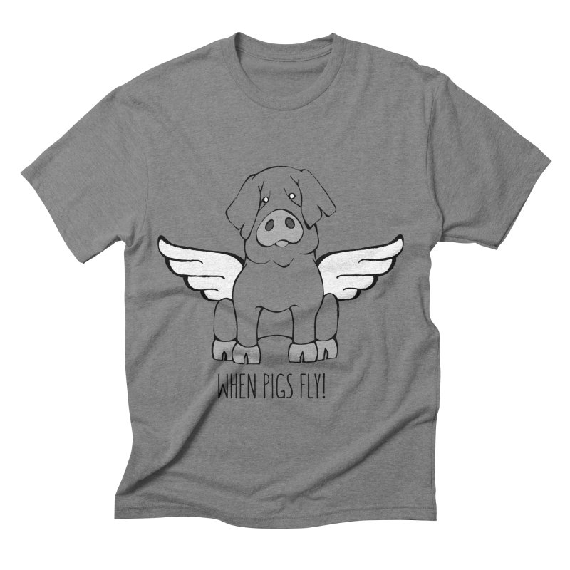 When Pigs Fly: Iberico Men's Triblend T-shirt by Angry Squirrel Studio