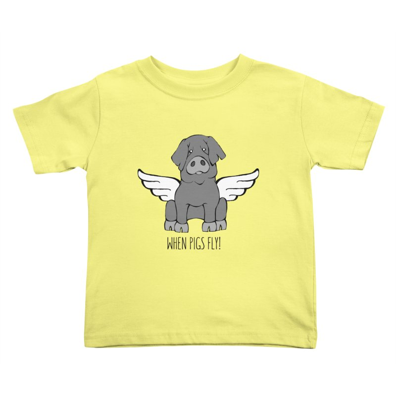 When Pigs Fly: Iberico Kids Toddler T-Shirt by Angry Squirrel Studio