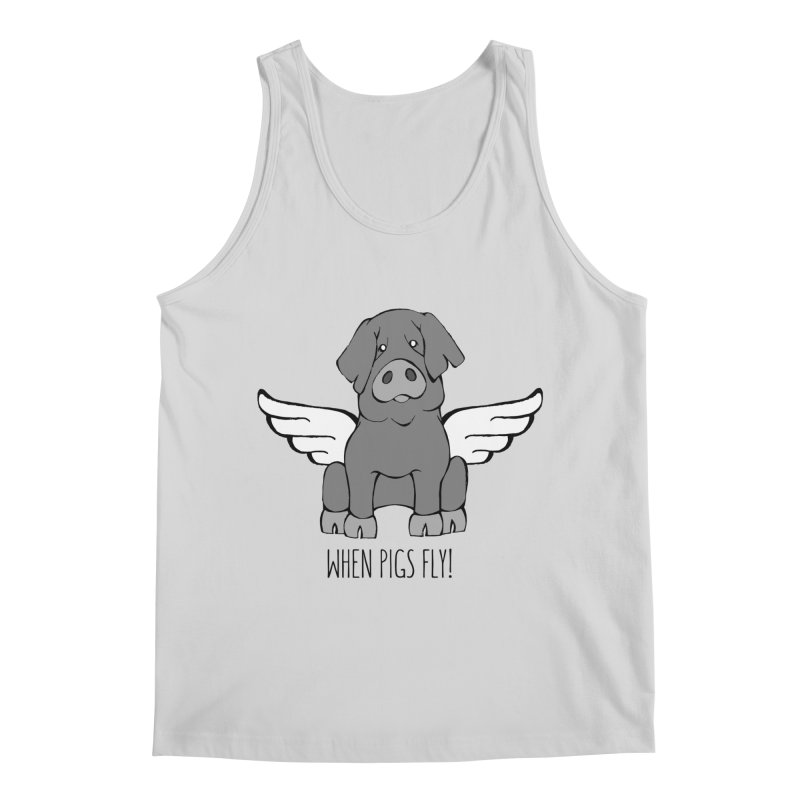 When Pigs Fly: Iberico Men's Regular Tank by Angry Squirrel Studio