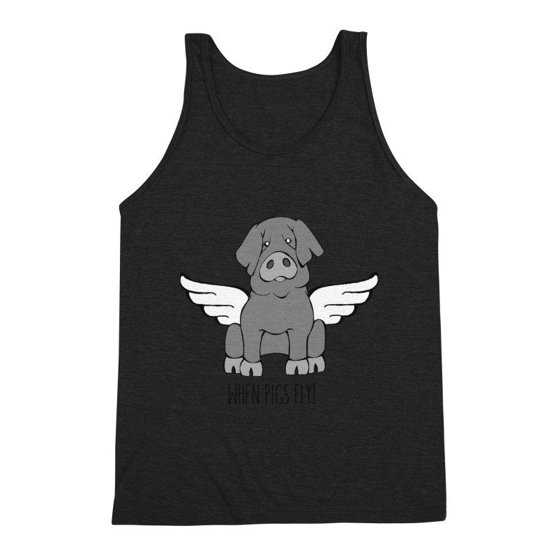 When Pigs Fly: Iberico Men's Tank by Angry Squirrel Studio