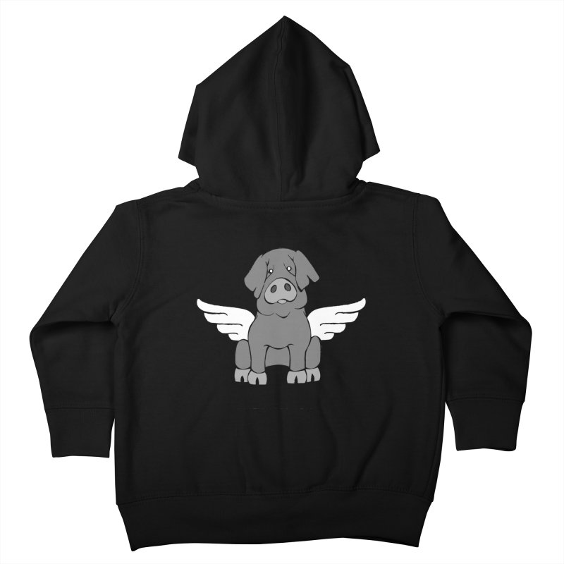 When Pigs Fly: Iberico Kids Toddler Zip-Up Hoody by Angry Squirrel Studio