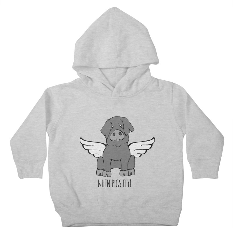 When Pigs Fly: Iberico Kids Toddler Pullover Hoody by Angry Squirrel Studio
