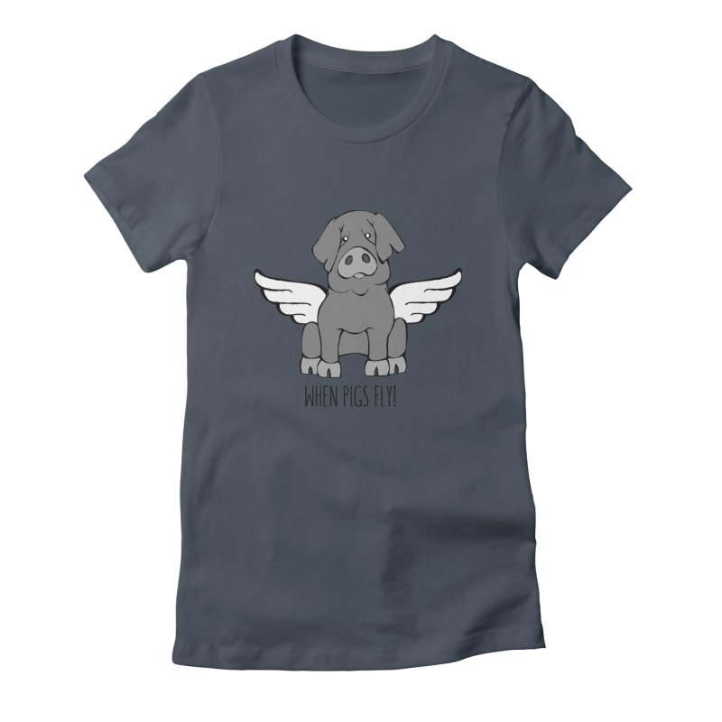 When Pigs Fly: Iberico Women's T-Shirt by Angry Squirrel Studio