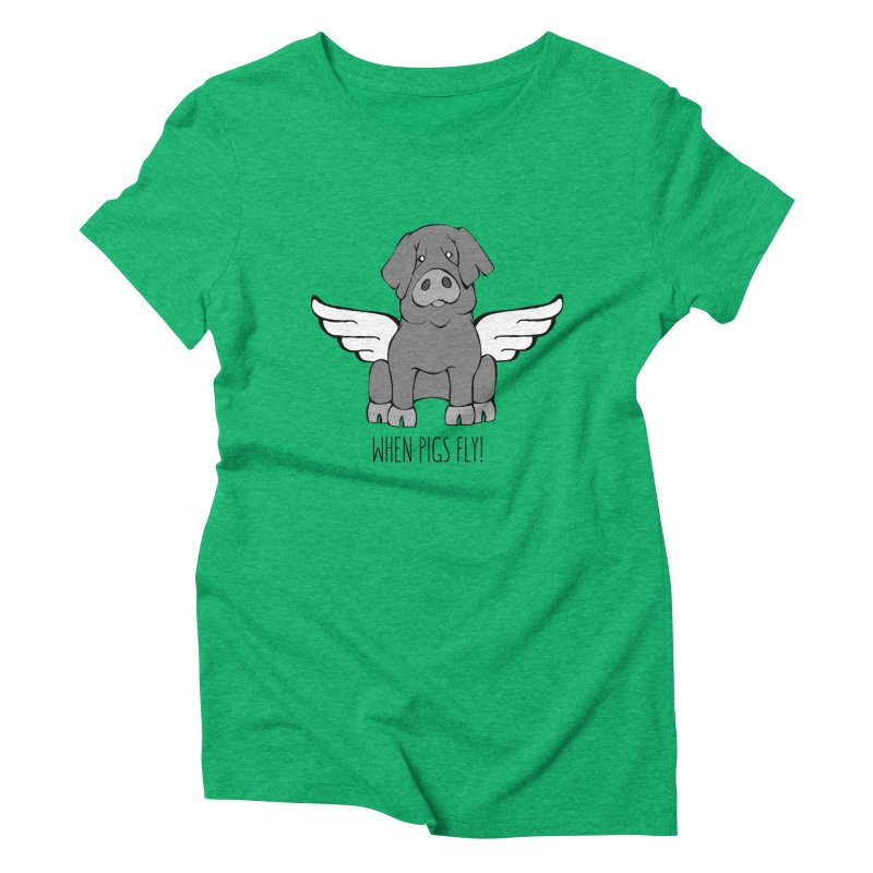 When Pigs Fly: Iberico Women's Triblend T-shirt by Angry Squirrel Studio