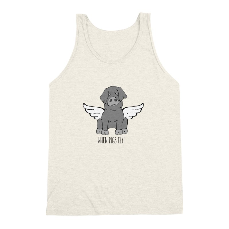 When Pigs Fly: Iberico Men's Triblend Tank by Angry Squirrel Studio