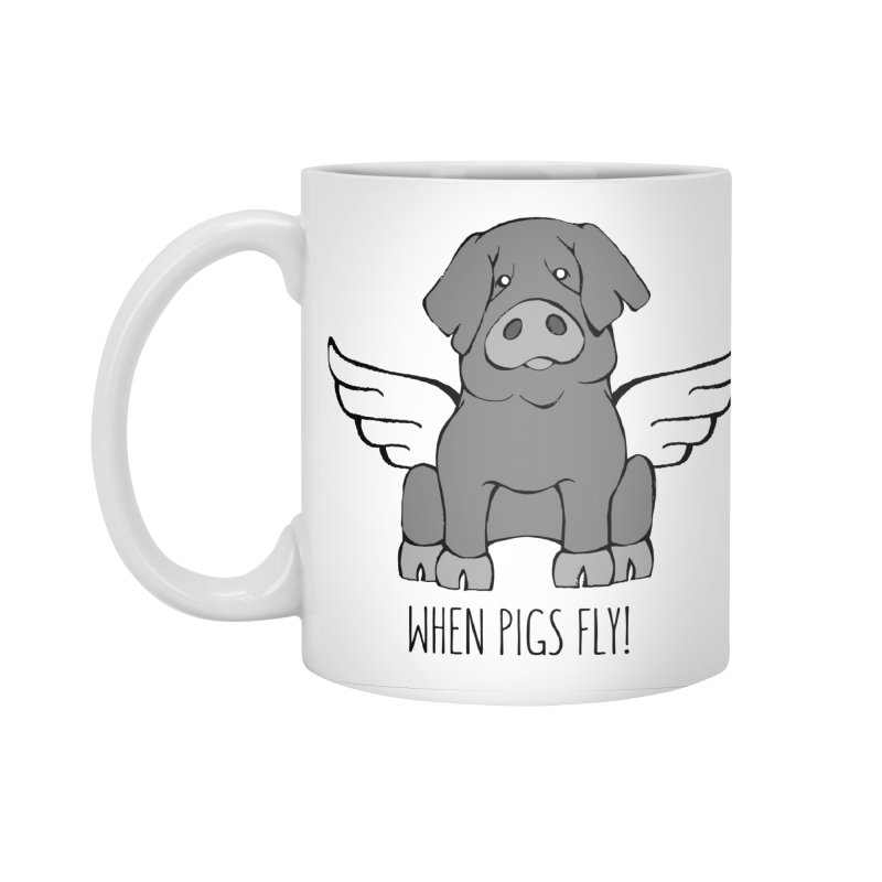 When Pigs Fly: Iberico Accessories Standard Mug by Angry Squirrel Studio