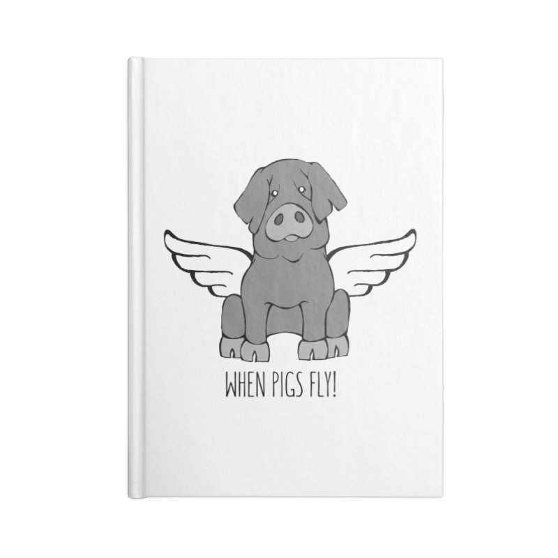 When Pigs Fly: Iberico Accessories Blank Journal Notebook by Angry Squirrel Studio