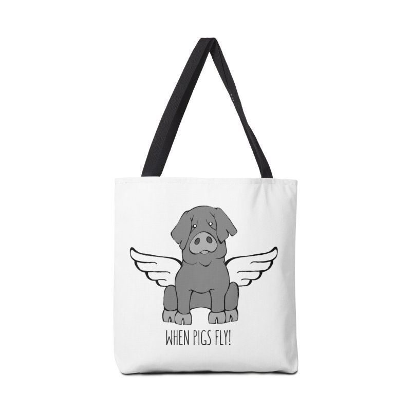 When Pigs Fly: Iberico Accessories Tote Bag Bag by Angry Squirrel Studio