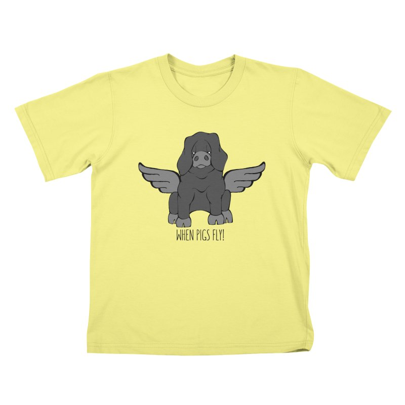 When Pigs Fly: Large Black   by Angry Squirrel Studio