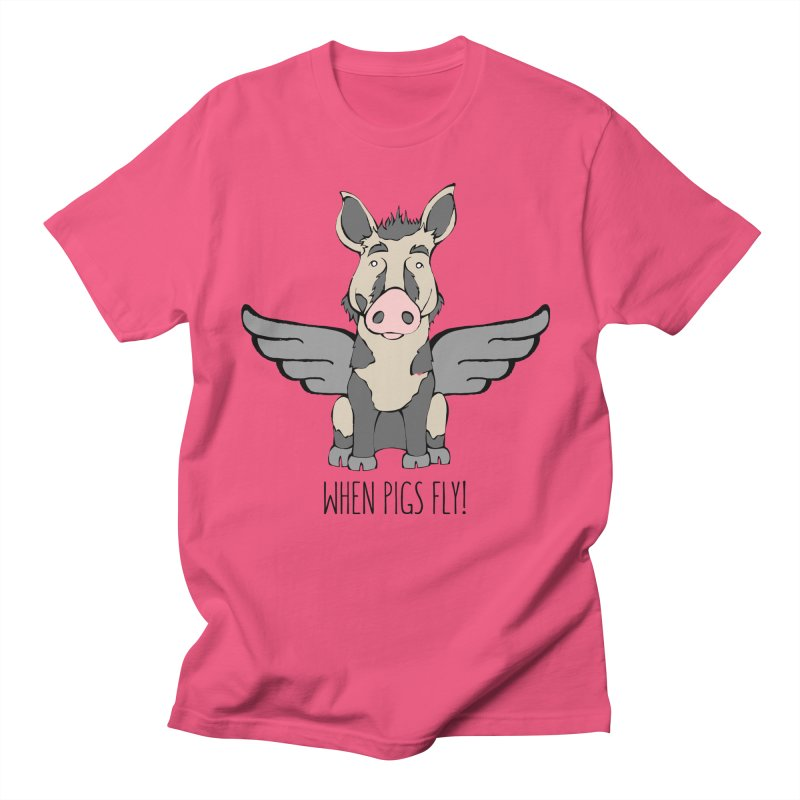 When Pigs Fly: Ossabaw Island Men's T-Shirt by Angry Squirrel Studio