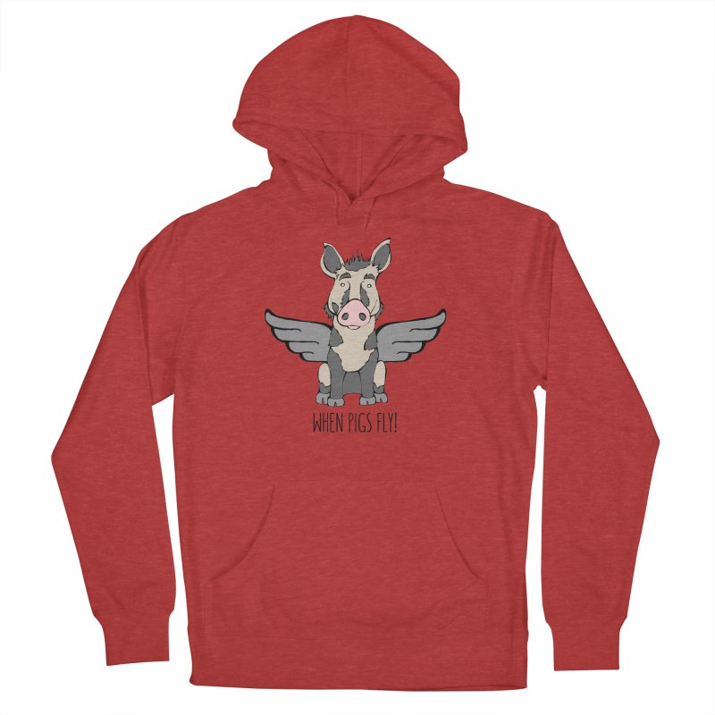 When Pigs Fly: Ossabaw Island Men's French Terry Pullover Hoody by Angry Squirrel Studio
