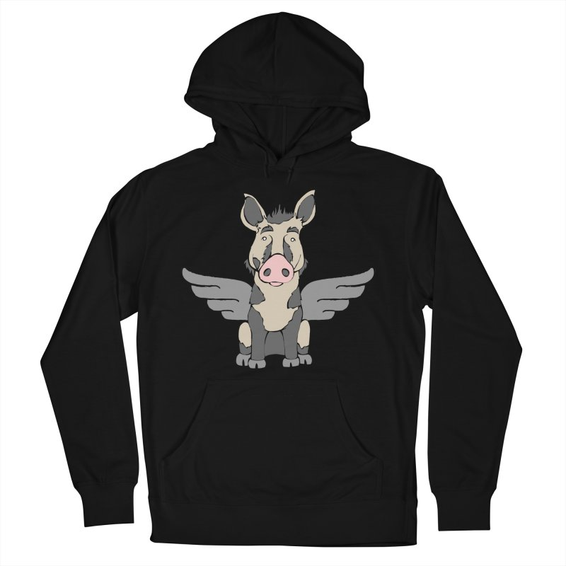 When Pigs Fly: Ossabaw Island Women's Pullover Hoody by Angry Squirrel Studio