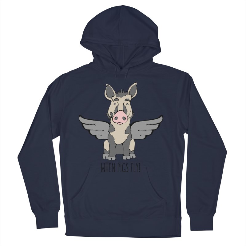When Pigs Fly: Ossabaw Island Men's Pullover Hoody by Angry Squirrel Studio
