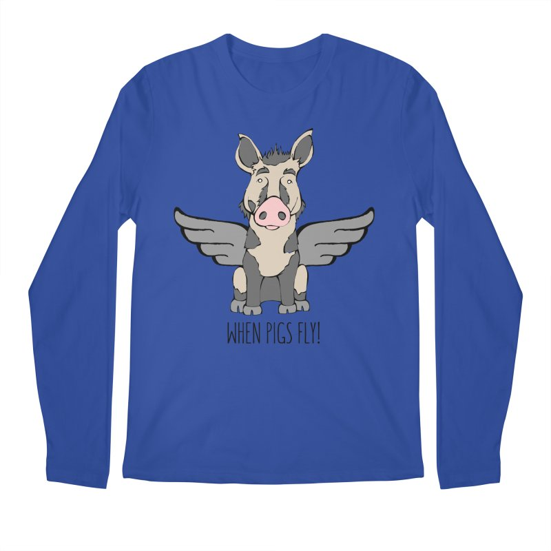 When Pigs Fly: Ossabaw Island Men's Regular Longsleeve T-Shirt by Angry Squirrel Studio