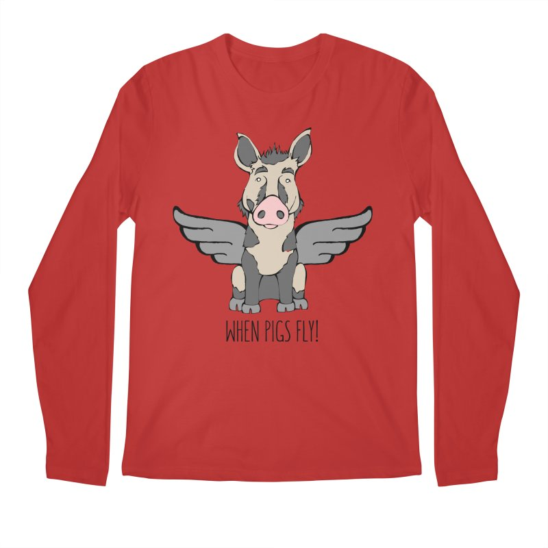 When Pigs Fly: Ossabaw Island Men's Longsleeve T-Shirt by Angry Squirrel Studio