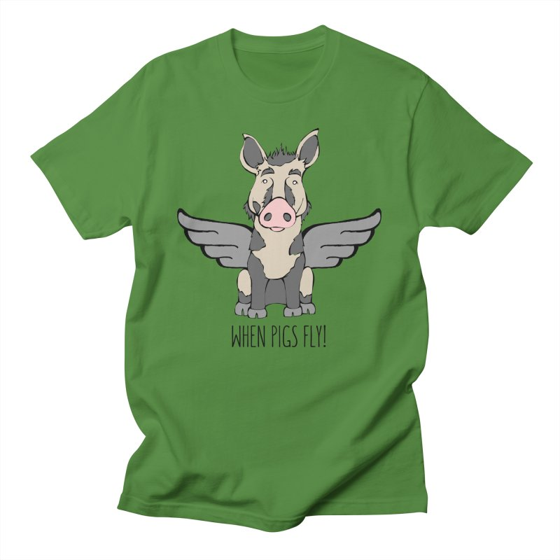 When Pigs Fly: Ossabaw Island Women's Regular Unisex T-Shirt by Angry Squirrel Studio