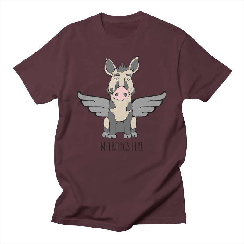 When Pigs Fly: Ossabaw Island Men's Regular T-Shirt by Angry Squirrel Studio