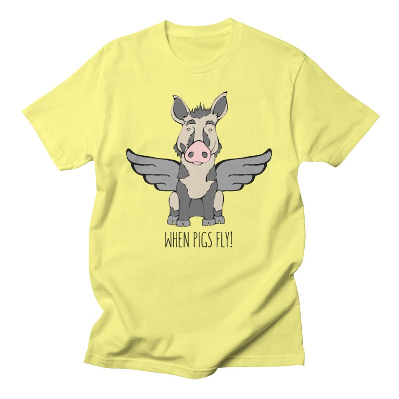 When Pigs Fly: Ossabaw Island Women's Unisex T-Shirt by Angry Squirrel Studio