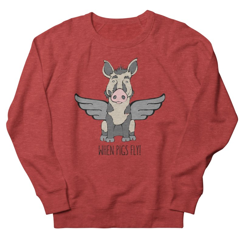 When Pigs Fly: Ossabaw Island Women's French Terry Sweatshirt by Angry Squirrel Studio