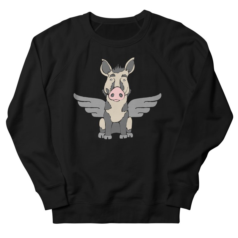 When Pigs Fly: Ossabaw Island Women's Sweatshirt by Angry Squirrel Studio