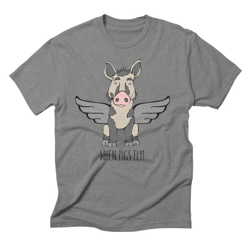 When Pigs Fly: Ossabaw Island Men's Triblend T-shirt by Angry Squirrel Studio