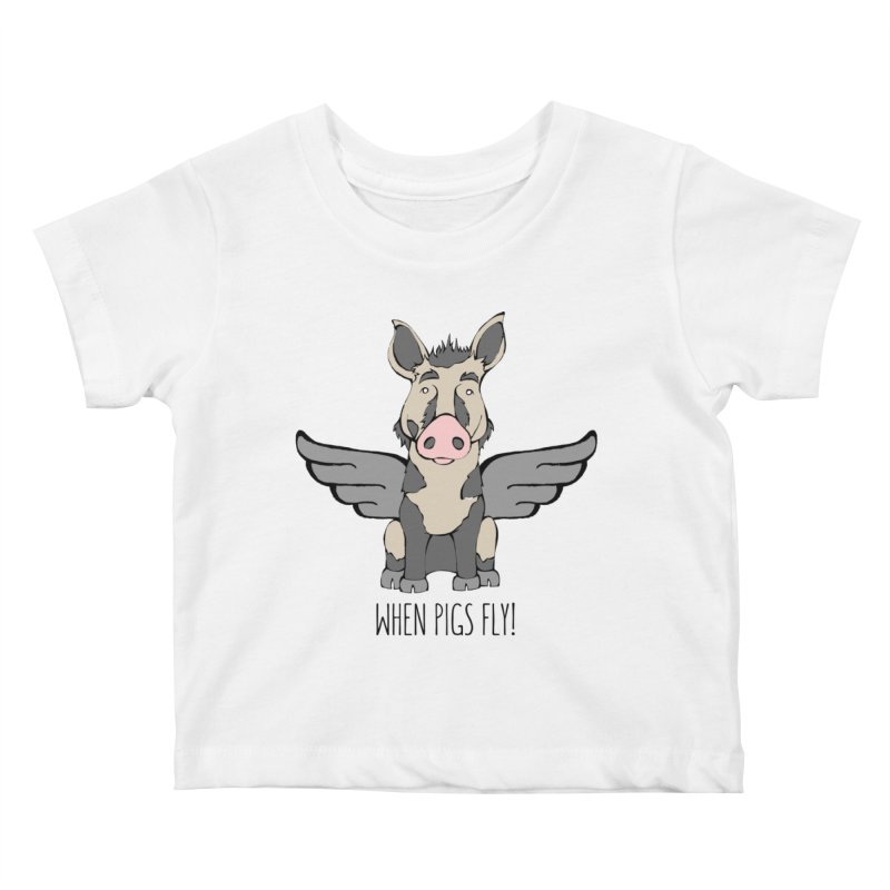 When Pigs Fly: Ossabaw Island Kids Baby T-Shirt by Angry Squirrel Studio