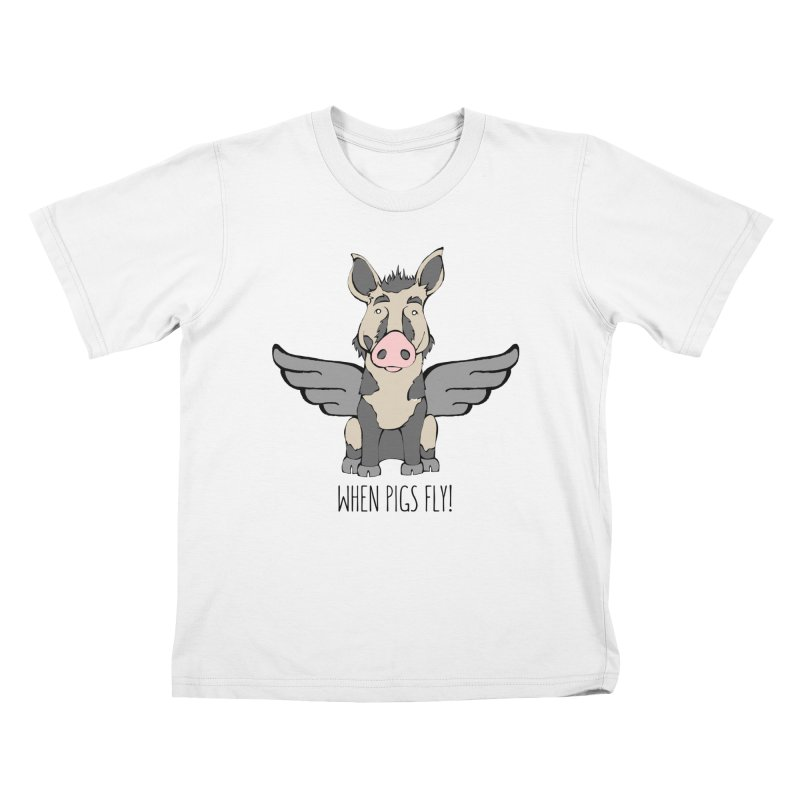 When Pigs Fly: Ossabaw Island Kids T-shirt by Angry Squirrel Studio