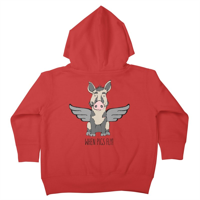 When Pigs Fly: Ossabaw Island Kids Toddler Zip-Up Hoody by Angry Squirrel Studio