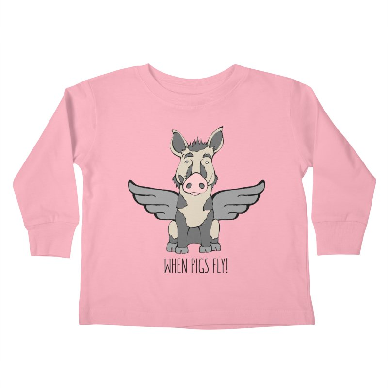 When Pigs Fly: Ossabaw Island Kids Toddler Longsleeve T-Shirt by Angry Squirrel Studio