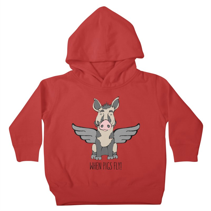 When Pigs Fly: Ossabaw Island Kids Toddler Pullover Hoody by Angry Squirrel Studio