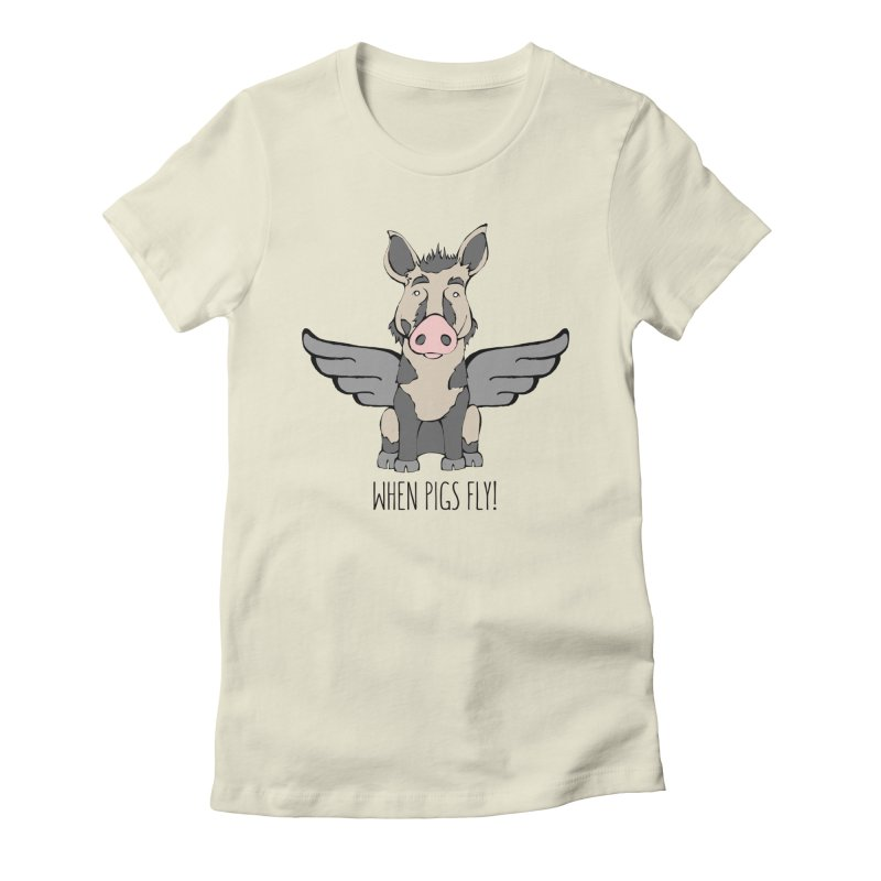 When Pigs Fly: Ossabaw Island Women's Fitted T-Shirt by Angry Squirrel Studio