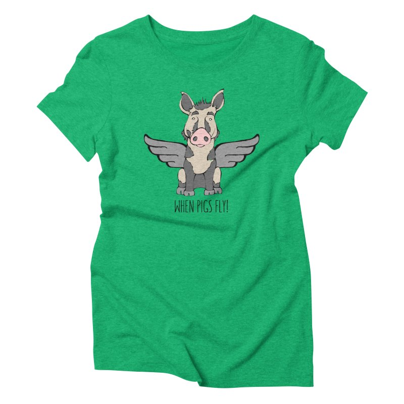 When Pigs Fly: Ossabaw Island Women's Triblend T-Shirt by Angry Squirrel Studio