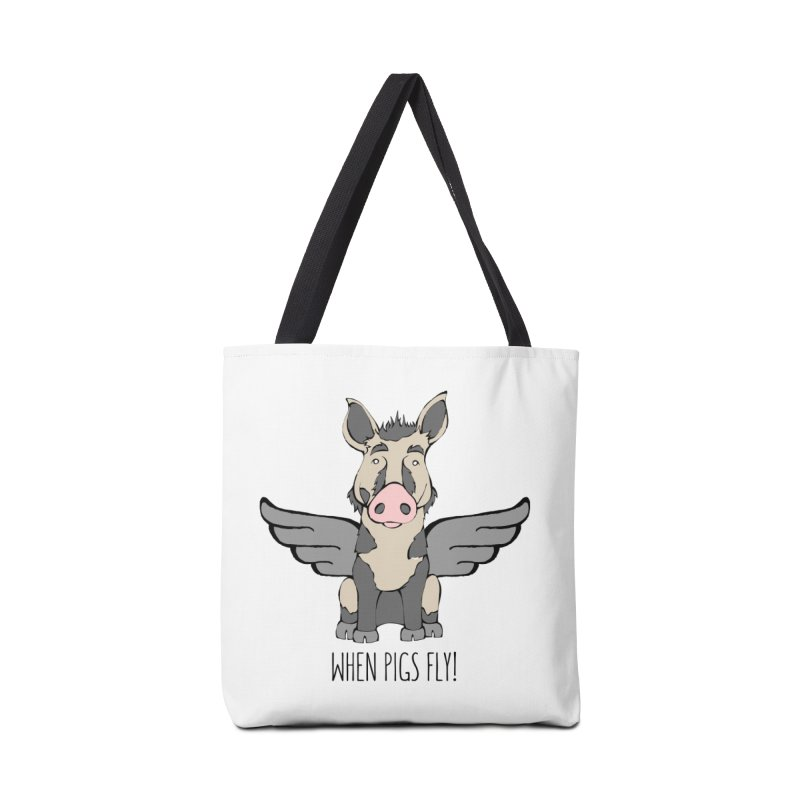 When Pigs Fly: Ossabaw Island Accessories Tote Bag Bag by Angry Squirrel Studio