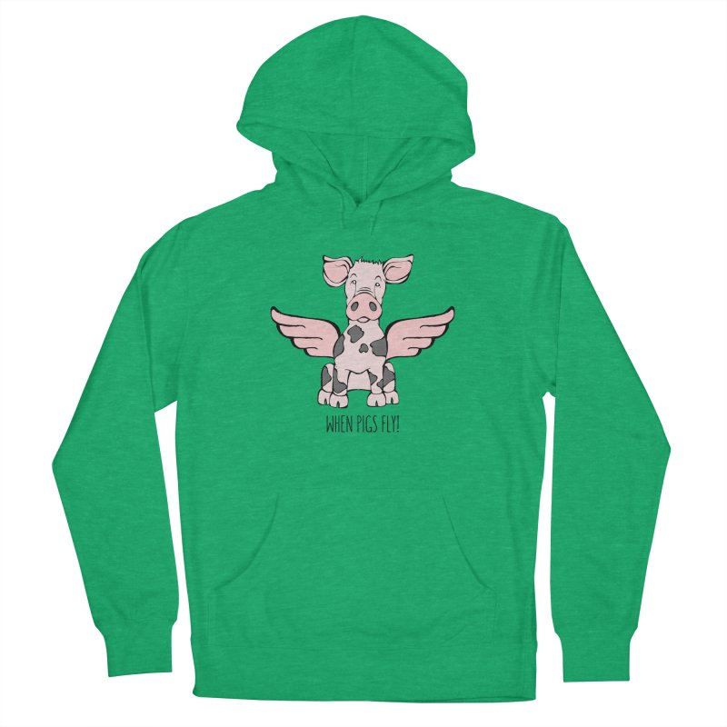 When Pigs Fly: Pietrain Women's Pullover Hoody by Angry Squirrel Studio