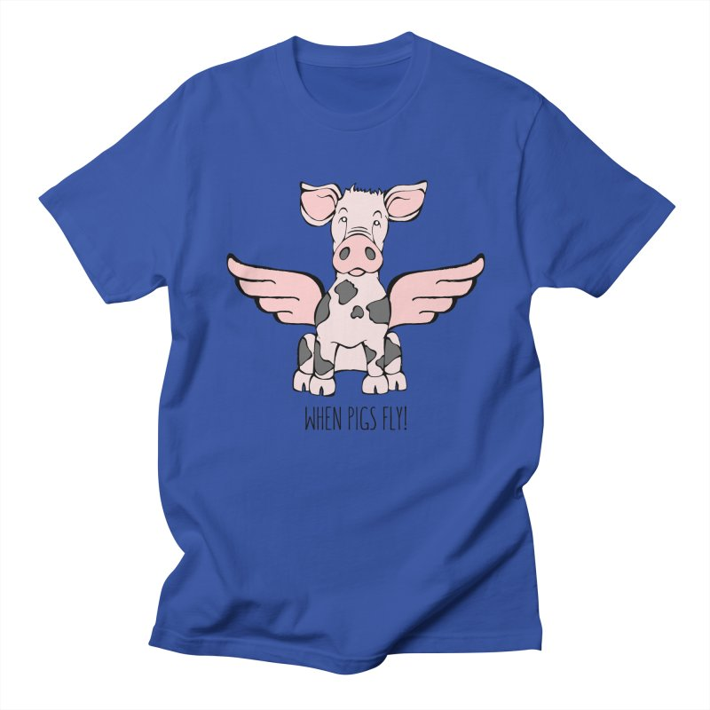 When Pigs Fly: Pietrain Women's Unisex T-Shirt by Angry Squirrel Studio