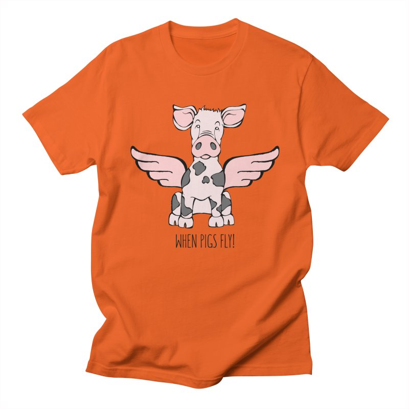 When Pigs Fly: Pietrain Men's T-Shirt by Angry Squirrel Studio
