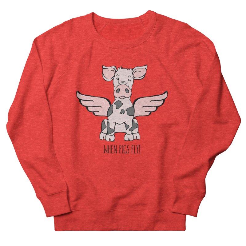 When Pigs Fly: Pietrain Women's Sweatshirt by Angry Squirrel Studio