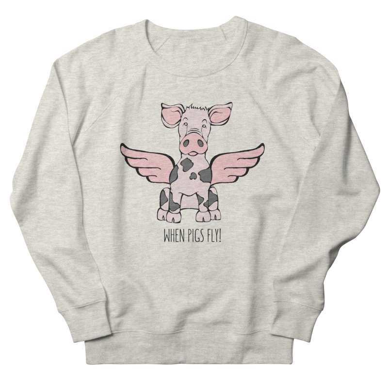 When Pigs Fly: Pietrain Women's Sweatshirt by Angry Squirrel Studio
