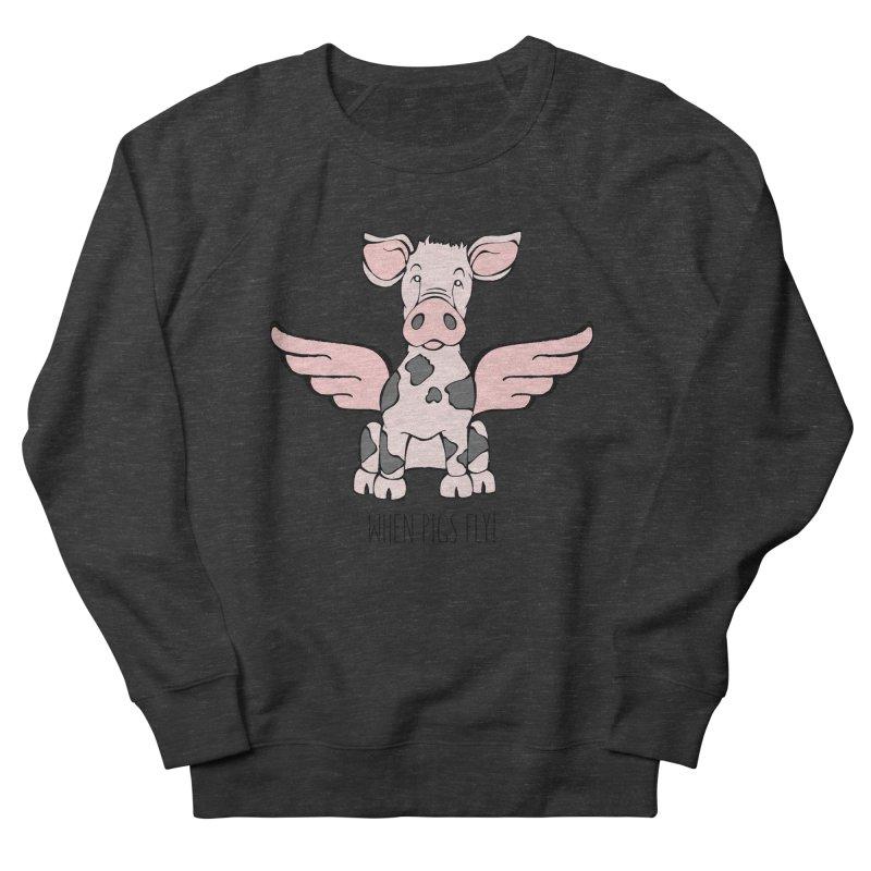 When Pigs Fly: Pietrain Men's Sweatshirt by Angry Squirrel Studio