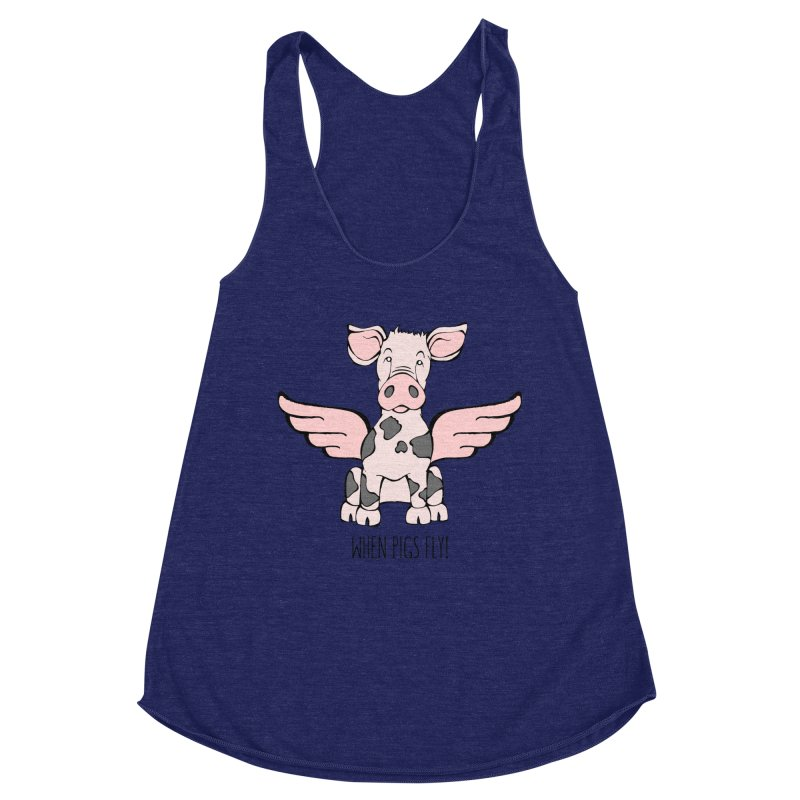 When Pigs Fly: Pietrain Women's Tank by Angry Squirrel Studio