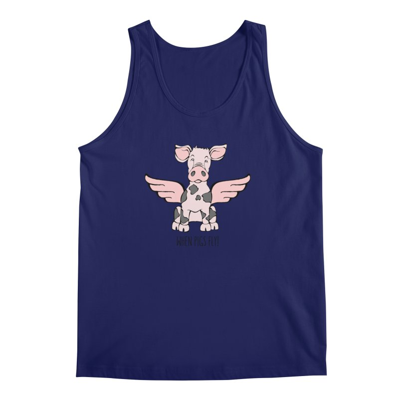 When Pigs Fly: Pietrain Men's Tank by Angry Squirrel Studio
