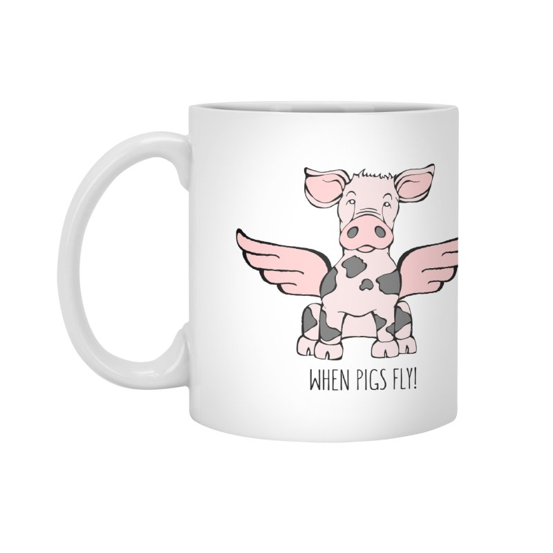 When Pigs Fly: Pietrain Accessories Mug by Angry Squirrel Studio