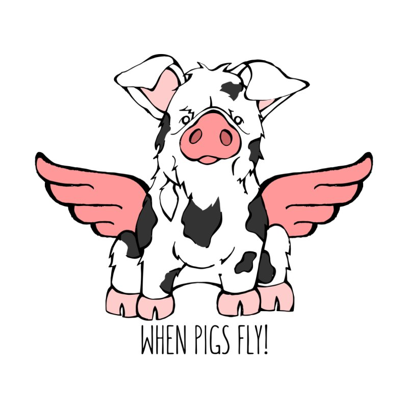 When Pigs Fly: KuneKune Men's T-Shirt by Angry Squirrel Studio