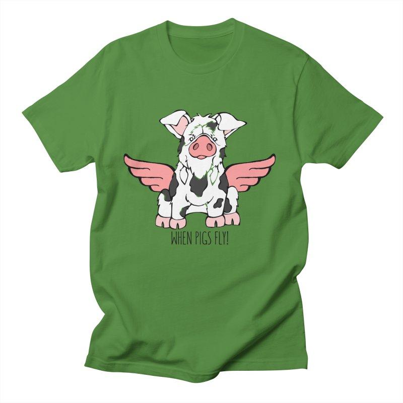 When Pigs Fly: KuneKune Men's T-Shirt by Angry Squirrel Studio