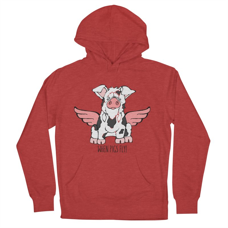 When Pigs Fly: KuneKune Women's Pullover Hoody by Angry Squirrel Studio