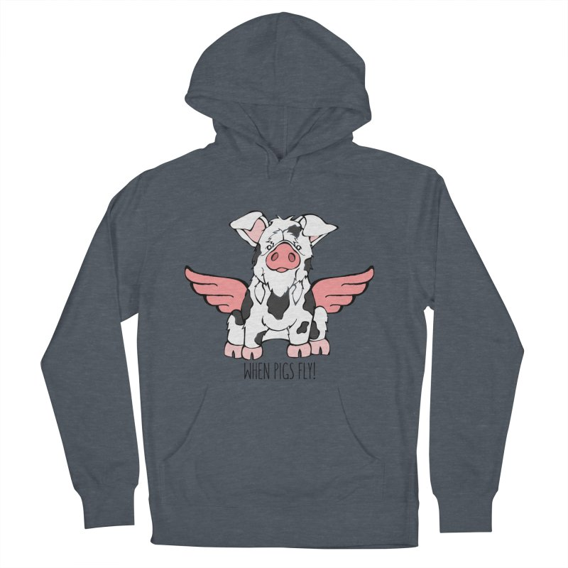 When Pigs Fly: KuneKune Men's Pullover Hoody by Angry Squirrel Studio