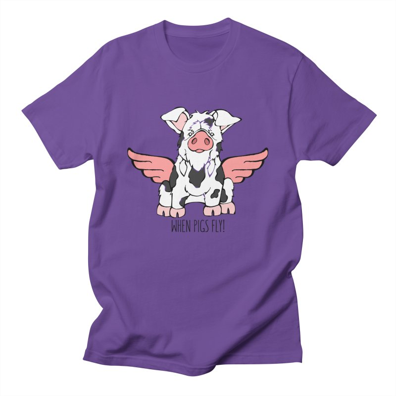 When Pigs Fly: KuneKune Women's Unisex T-Shirt by Angry Squirrel Studio